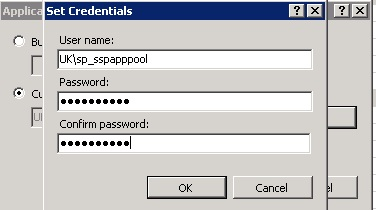iis7.0 Application Pool Identity- Set Credentials.jpg